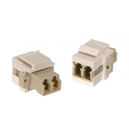 Adaptador LC duplex F/F branco de painel