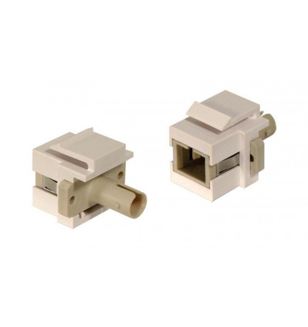 Adaptador SC F/ST F branco de painel