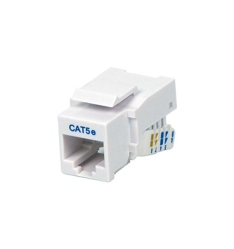 Conector UTP RJ45 Cat.5E Fêmea clip branco