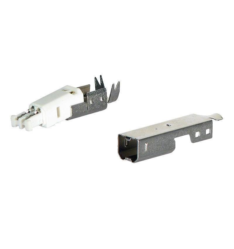 Conector USB para cravar cabo