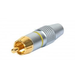 Conector dourado 2x RCA M