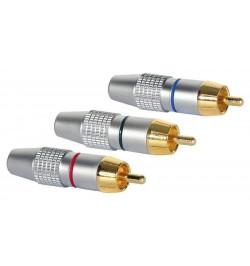 Conector dourado High End RCA componente YPbPr M 3x