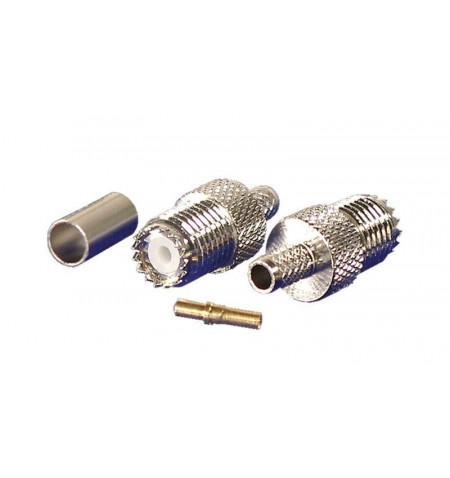 Conector PHASAK Mini UHF Jack RG58 para cravar