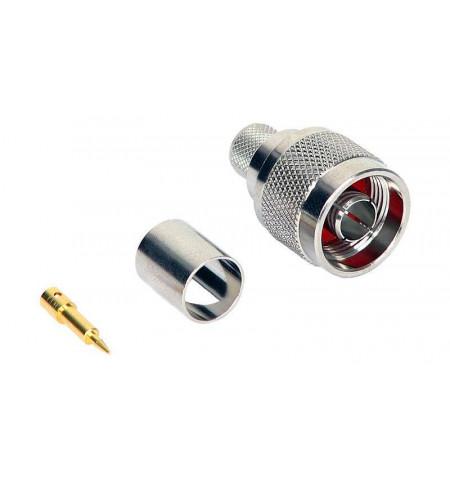Conector N Plug para cravar LMR400/RG–213