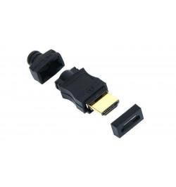 Conector HDMI macho AWG 28/26 dourado para soldar