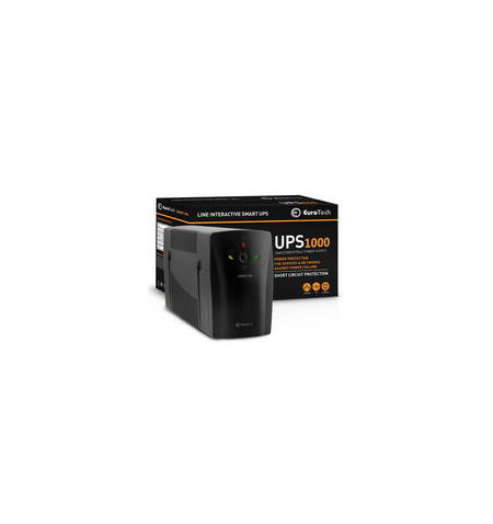 UPS Eurotech 1000VA / 600W 1USB 2RJ45 2SCHUKO - UPS1000EU - Levante Já em Loja