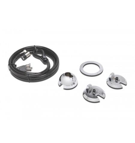 Kensington SafeDome Clicksafe Keyed Lock - Kit de segurança de sistema - prata