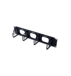 APC 2U Horizontal Cable Organizer W/ Pass-Thru Black - AR8428