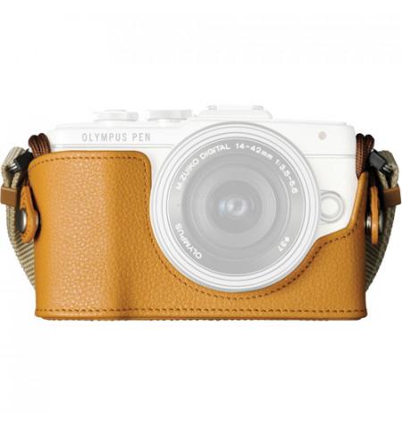 Estojo câmara Olympus CS-45B Leather Body E-PL7 - Castanho Claro (V601066MW000)