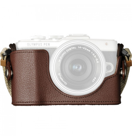 Estojo câmara Olympus CS-45B Leather Body E-PL7 - Castanho (V601066NW000)