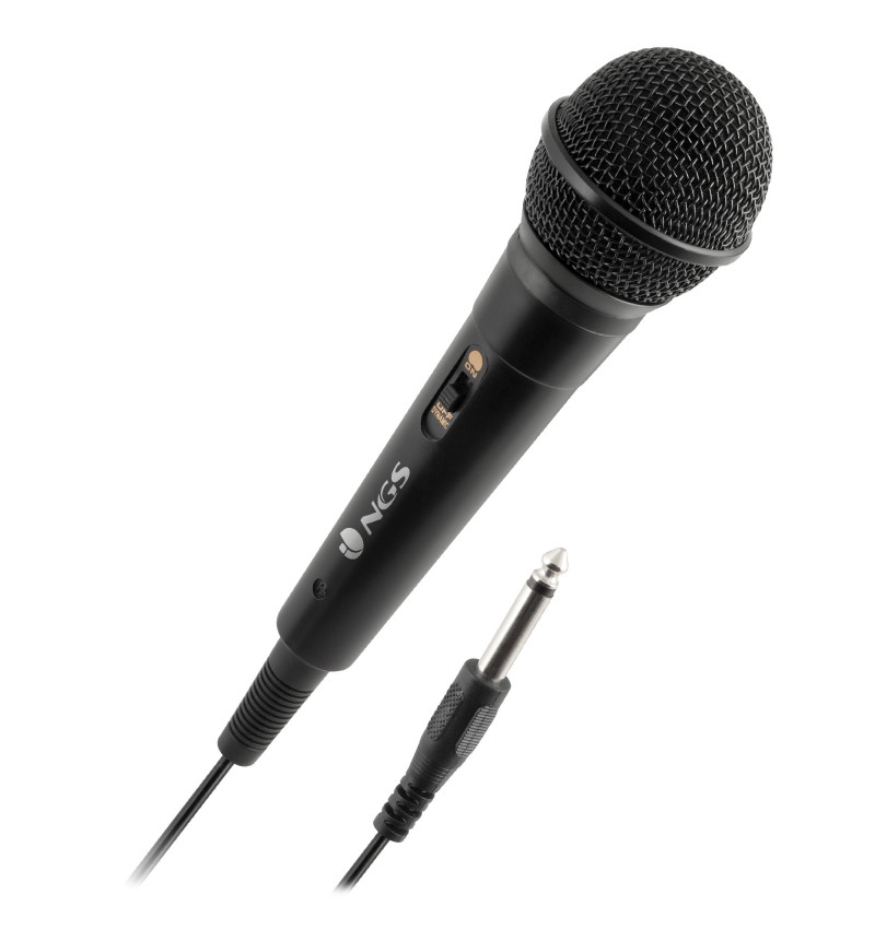 Vocal Microphone - 3 metros de comprimento, Jack 6.3 mm, botăo on/off