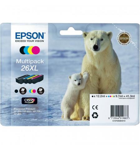 Tinteiros Originais Epson Multipack 4 cores 26XL Alta Capacidade Claria Premium - C13T26364020