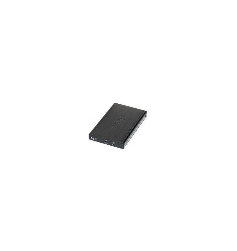 """Caixa Externa Akasa 2.5"""" USB em alumínio SATA/SSD negra"""