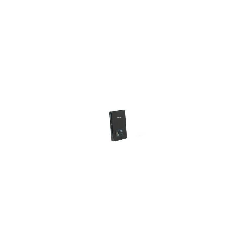 """Caixa Externa Icy Box 2.5"""" SATA USB 2.0 c/ leitor impressão digital negra"""