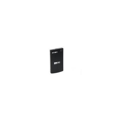 "Caixa Externa Icy Box 2.5"" SATA alumínio USB 3.0 preta"
