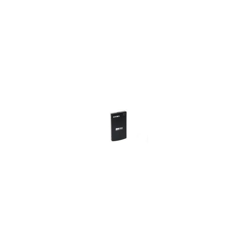 """Caixa Externa Icy Box 2.5"""" SATA alumínio USB 3.0 negra"""