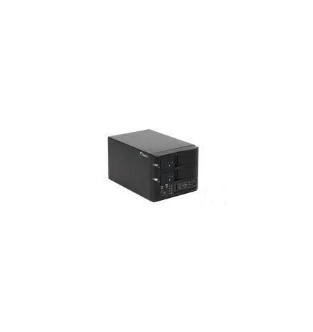 """Caixa Externa Fantec 3.5"""" duplicadora HDD 2xSATA RAID 0/1 USB2.0"""