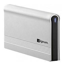 "Caixa Externa ZIGNUM USB 2.0, 3.5"" SATA Aluminio cinzento"