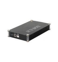 """Caixa Externa Icy Box 3.5"""" PATA/SATA/USB negra"""