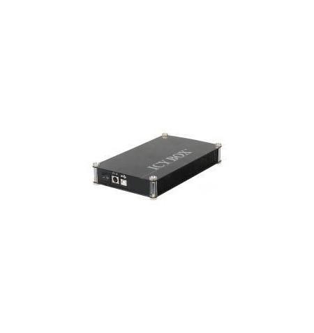 """Caixa Externa Icy Box 3.5"""" PATA/SATA/USB preta"""