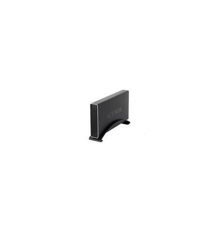 """Caixa Externa Icy Box alumínio 3.5"""" SATA c/ ligação E–SATA/USB preta"""
