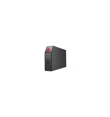 Caixa Externa Spire alumínio 3.5 SATA/USB com ventilação preta