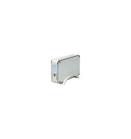 """Caixa Externa 3.5"""" SATA e–SATA/USB 2.0 com ventoinha 70 mm"""