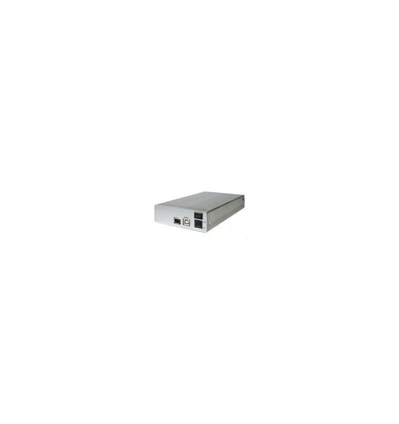 """Caixa Externa KEPLER dispositivos IDE 3.5"""" USB 2.0 e FireWire"""