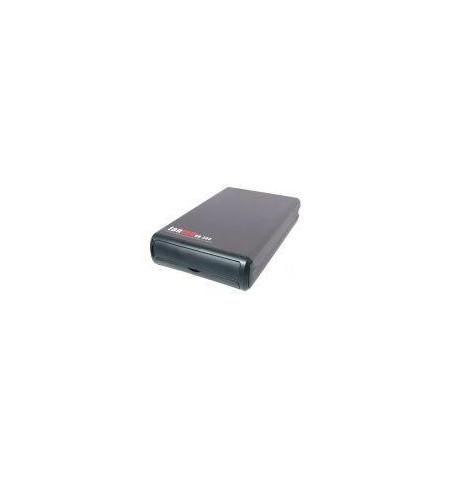 "Caixa Externa dispositivos IDE 5,25"" USB+FireWire preta ventilador"