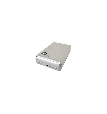 """Caixa Externa dispositivos IDE 5,25"""" USB+FireWire prateada ventilador"""