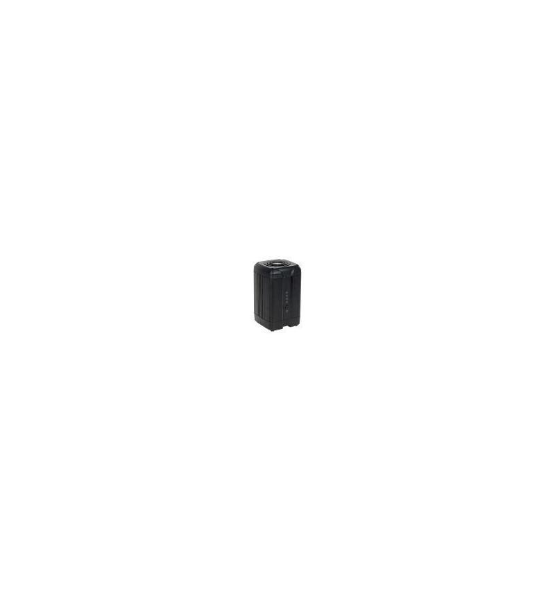 "Caixa Externa Coolmax 2 x 3.5"" NAS SATA I/II HDD em alumínio cinza"