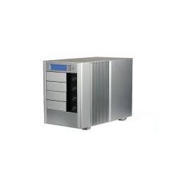 """Caixa Externa RAID 4xSATA 3.5"""" Raid 0/1 em alumínio"""