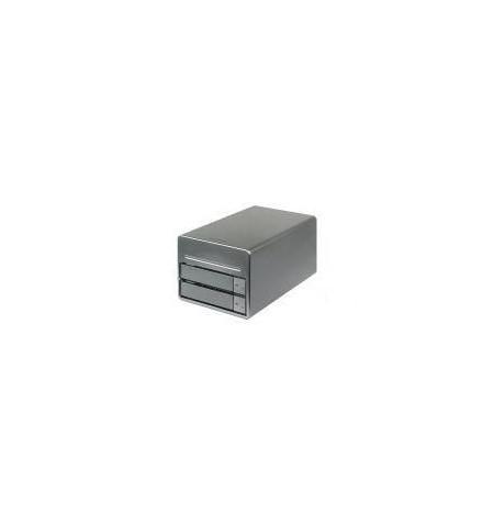 "Caixa Externa RAID 0.1 NAS 2 x 3.5"" porta 10/100/1000 + USB 2.0"