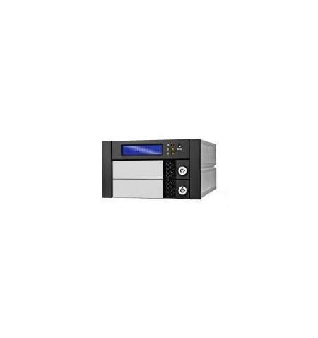 """Caixa Externa RAID 5.25"""" para 2 discos SATA 3.5"""" em alumínio"""