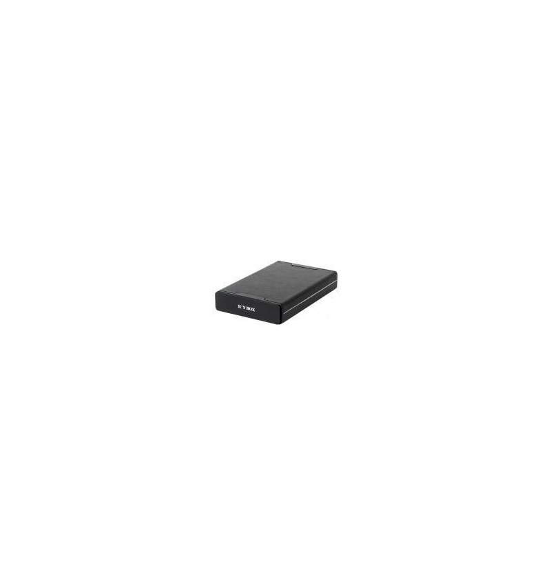 """Caixa Externa Icy Box alumínio+pele 3.5"""" SATA lig. E–SATA/USB negra"""