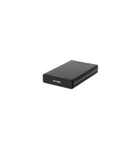 """Caixa Externa Icy Box alumínio+pele 3.5"""" SATA lig. E–SATA/USB preta"""