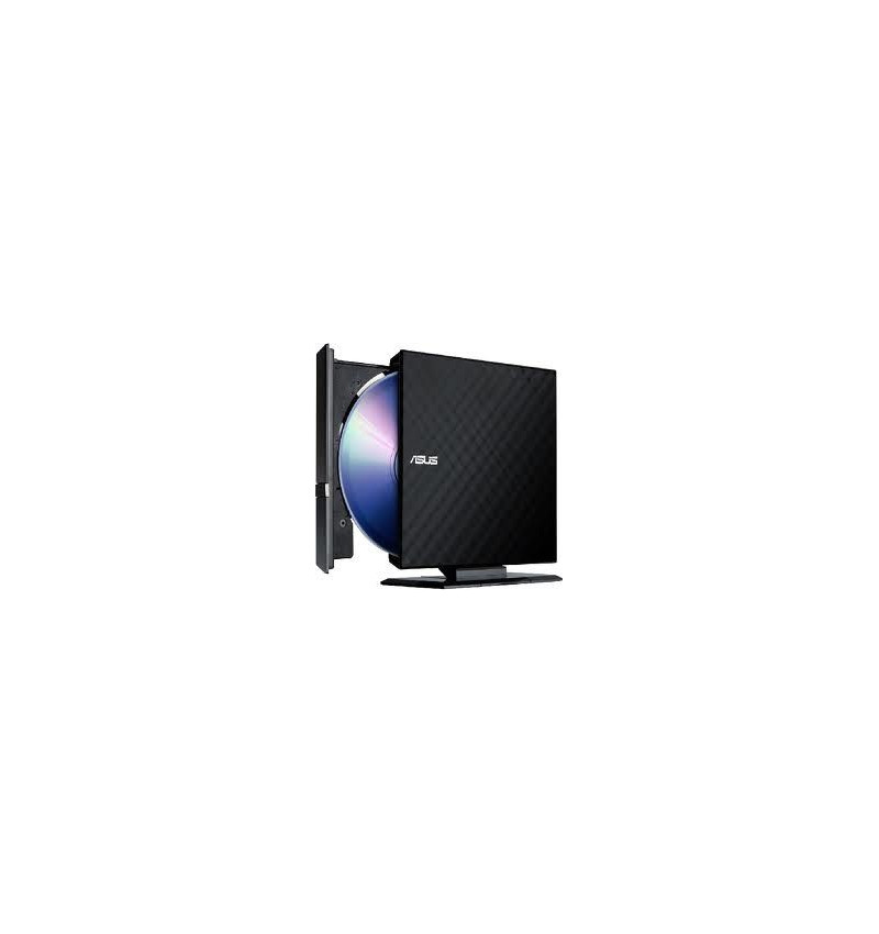 Asus SDRW-08D2S-U/DBLK/G/AS- Gravador DVD Slim externo Preto USB, software Cyberlink Power 2Go (Burn)