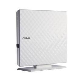 Asus SDRW-08D2S-U/DWHT/G/AS-DVD+RW8X,DVD-RW6X,DVD+DL6X,DVD-DL6X,USB, Branco