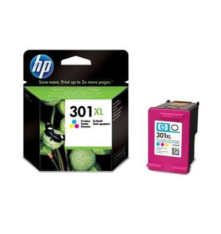Tinteiro Original HP 301XL Tri-Color (CH564EE)