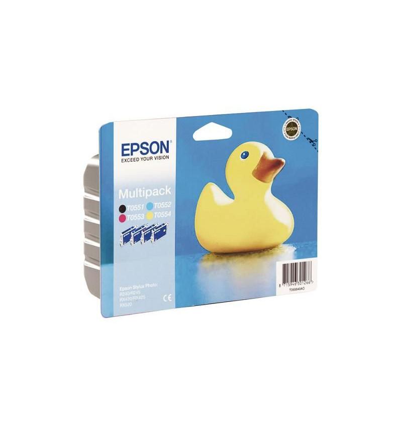 Tinteiro Original Epson Multipack para Stylus Photo R240/ RX420/ 425/ 520 (T055140+T055240+T055340+T0554404)