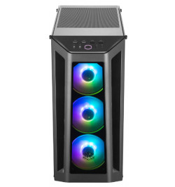 MasterBox MB530P, 3 Tempered Glass Panels, Adressable RGB Fans, ARGB Lighting Control, up to 6 fans,