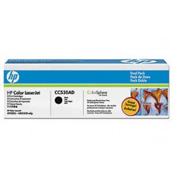 Toner Original HP Dual Pack Black p/ LaserJet CC530A