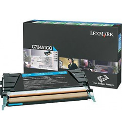 Toner Original Lexmark Cyan p/ C73X/X73X