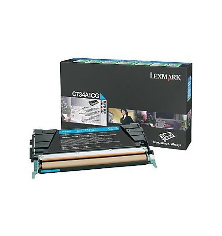 Toner Original Lexmark Ciano (C734A1CG)