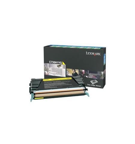 Toner Original Lexmark Amarelo p/ C73X/X73X