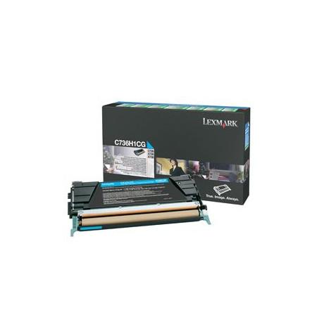 Toner Original Lexmark Ciano (C736H1CG)