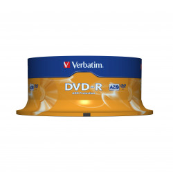 DVD-R VERBATI.16x 4,7GB AZO    -CAKE25
