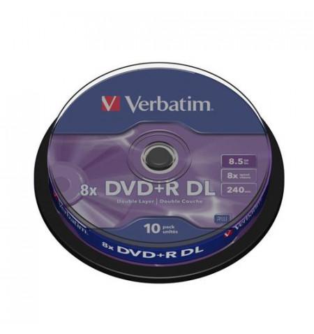 DVD+R DL VERBATI.8x 8,5GB AZO  -CAKE10