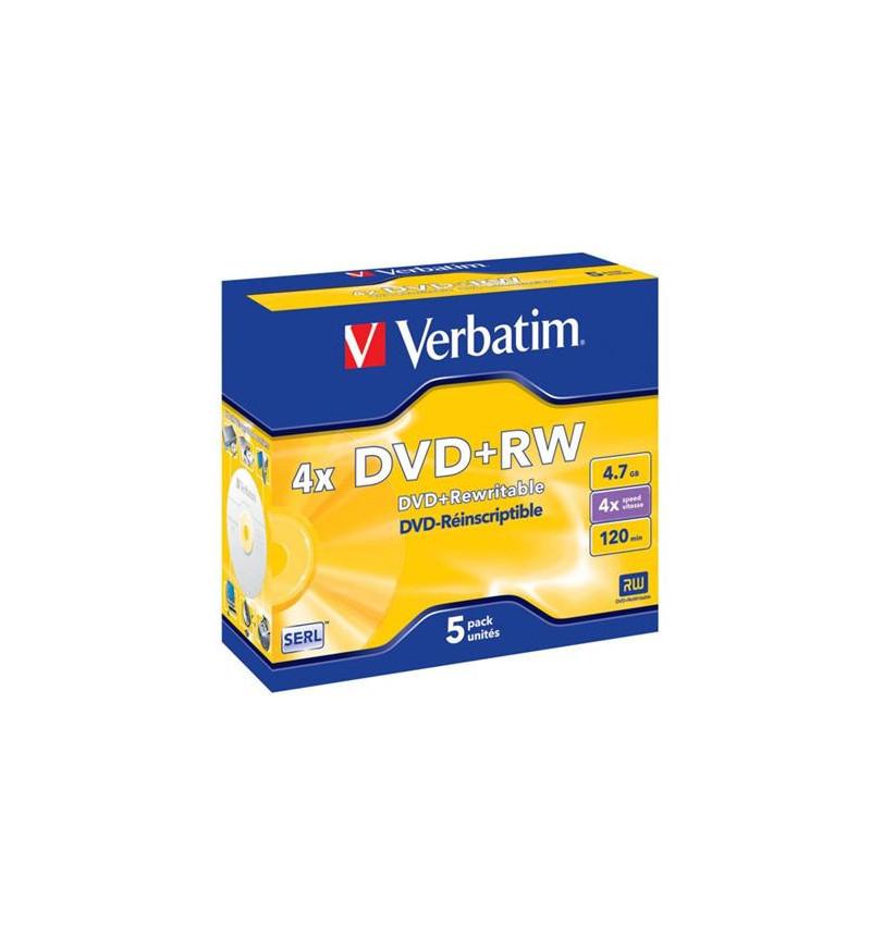 DVD+RW VERBATI.4x 4,7GB ADVANCED-PACK5
