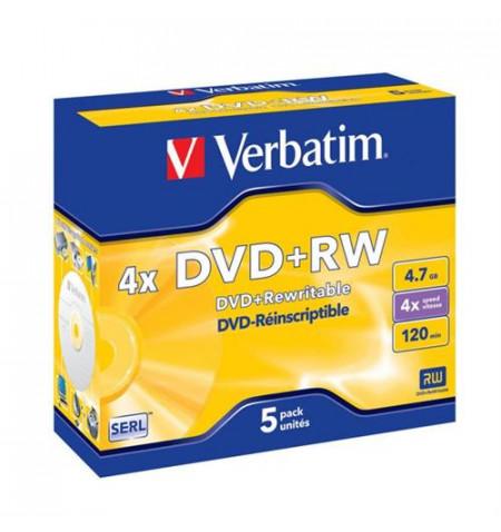 DVD+RW VERBATIM 4x 4,7GB ADVANCED-PACK5